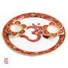 Gift Om Arthi Thaali in Pure White Marble with Kundan Work on Diwali