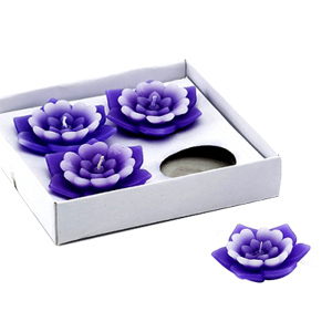 Diwali Candles-Floral Wax Floaters - Set of 4