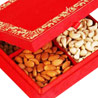 Gift Red Satin Dryfruit Box on Diwali