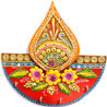 Gift Diya Design Wood and Clay Art Key Hanger on Diwali