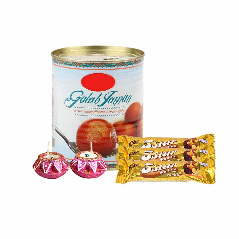 Gulab Jamun, Chocolates and Diya