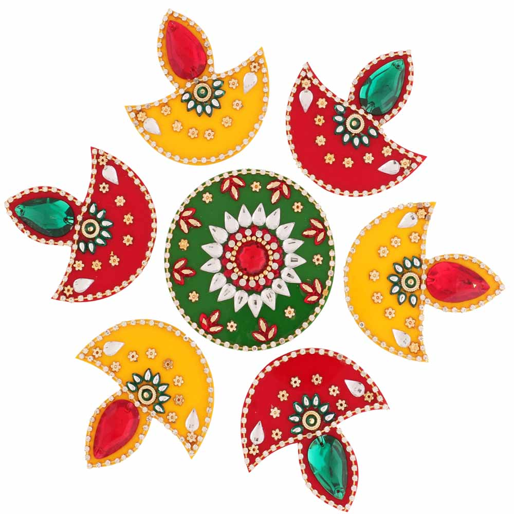 Decorative Acrylic Rangoli R-801