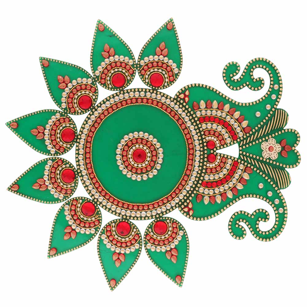 Decorative Acrylic Rangoli KP10v500