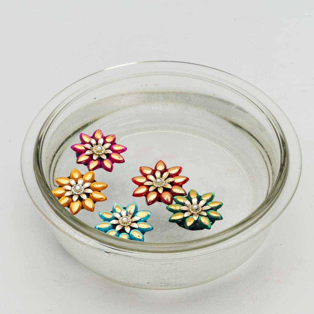 Diwali Mithai Thalis & Hampers-Smokeless Floating Candle and Showpieces