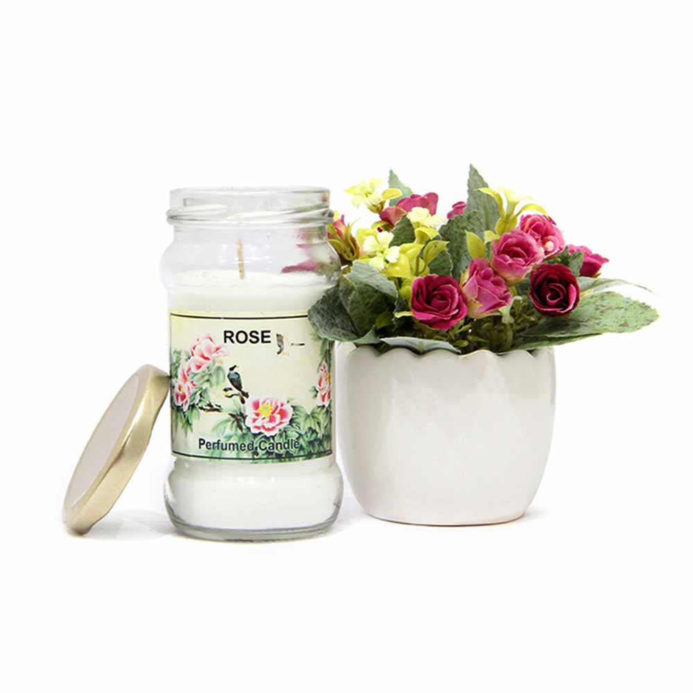 Rose Candle with Vase