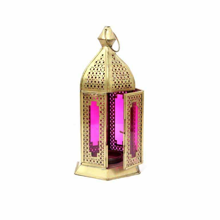 Lamps-Antique Pink Lantern