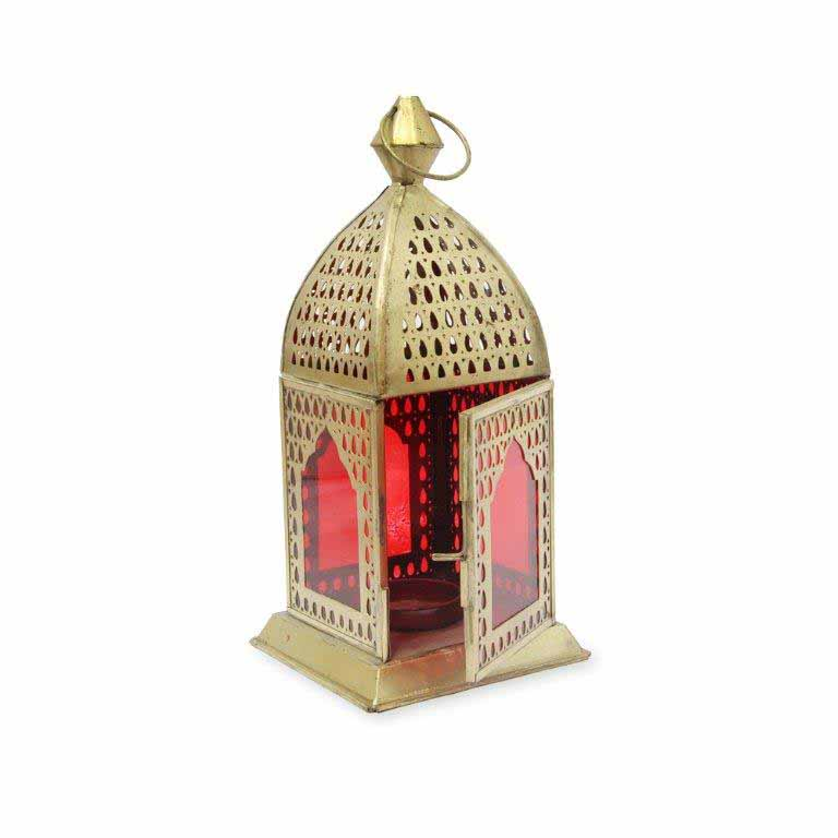 Lamps-Antique Red Lantern