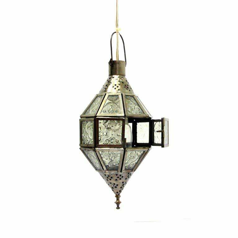 Lamps-Silver Antique Lantern