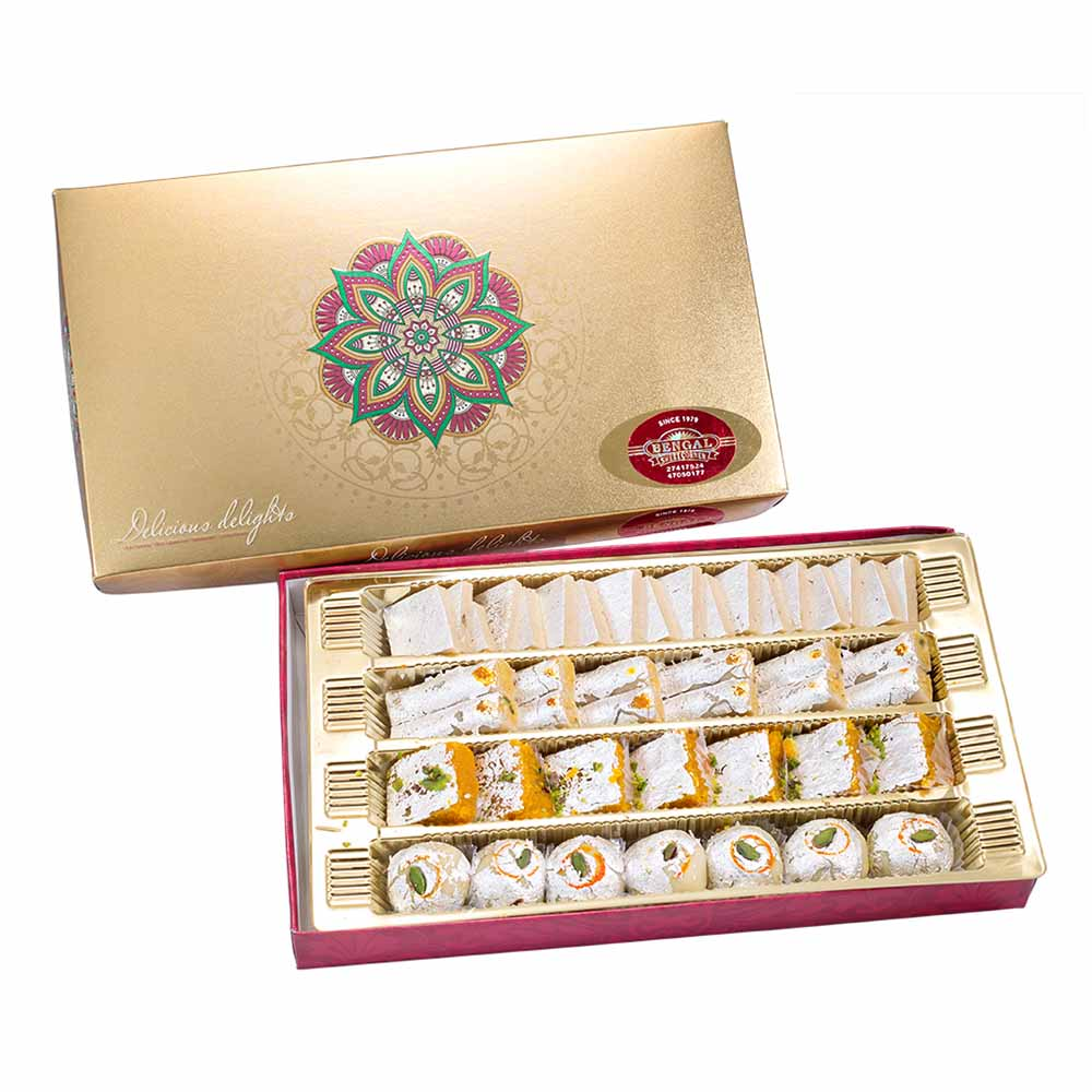 Bengal Sweet's Luscious Assortment-800gms