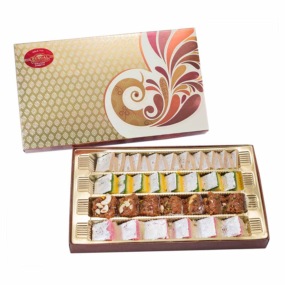 Traditional Mithai-Bengal Sweet's Delicious Selection-800 gms