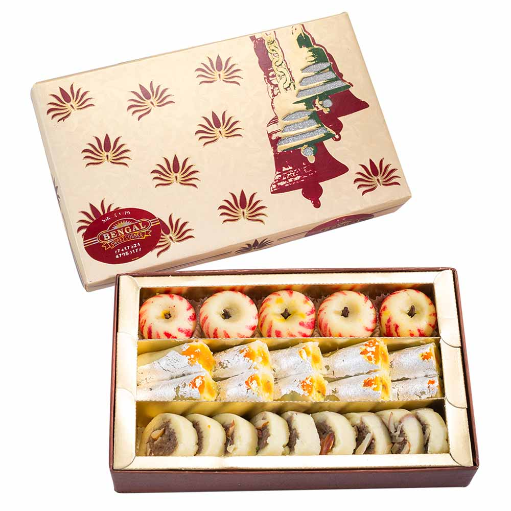 Bengal Sweet's Apple, Anjeer and Kaju Roll Collection-500gms