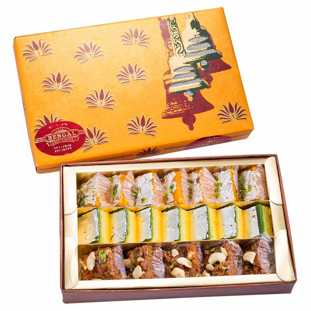 Bengal Sweet's Burfi Assortment-500gms