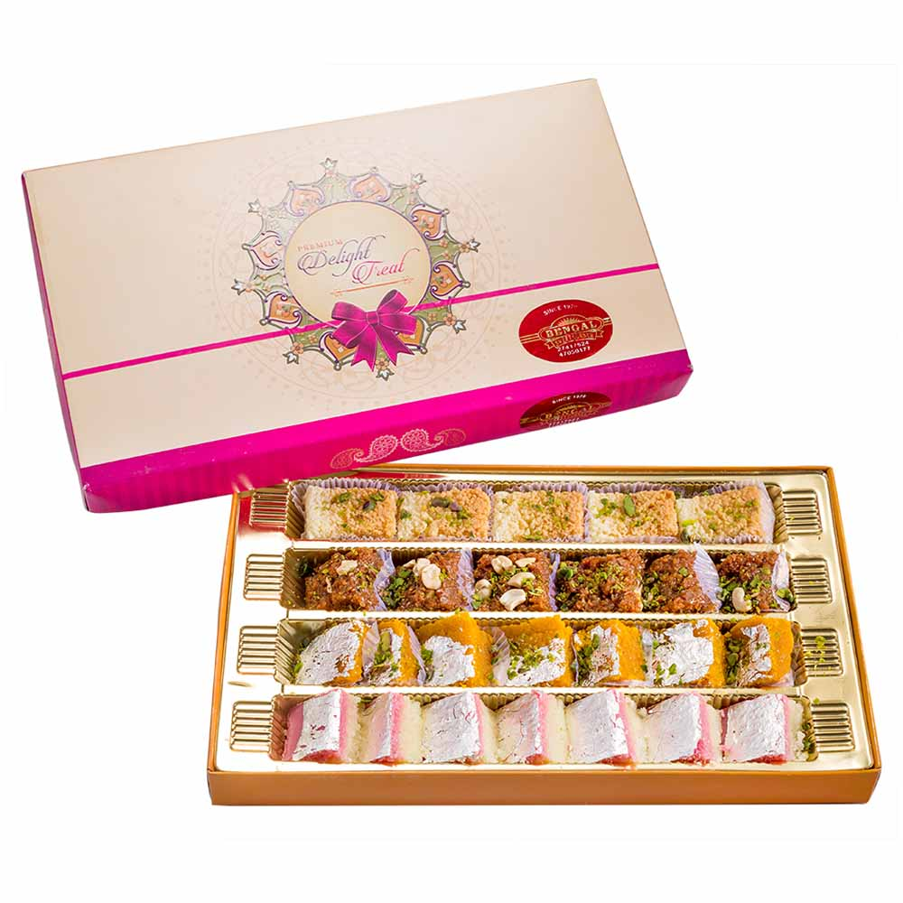 Traditional Mithai-Bengal Sweet's Mixed Burfi Collectiom-800gms