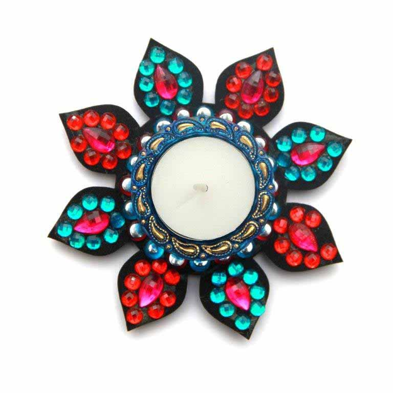 Floating Rangoli T-light Holder