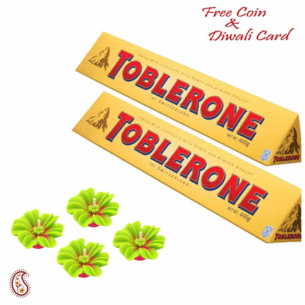 Toblerone Gift Hamper on Diwali with Flkoating Candles