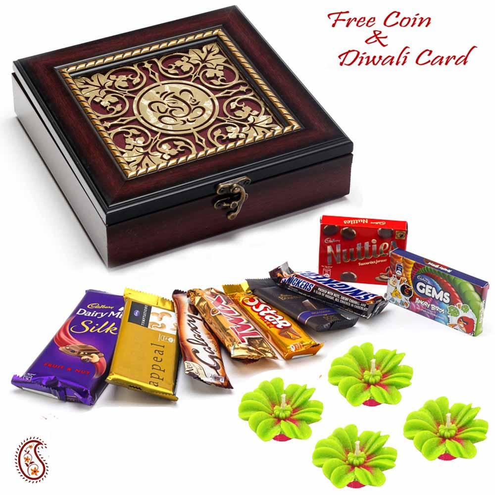 Beautiful Ganesha Box with Chocolates Pack