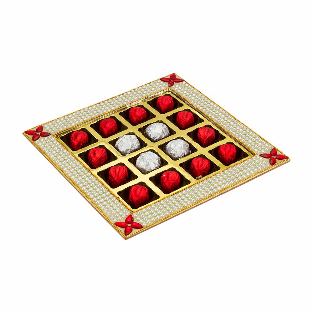 Bikanervala Pearl n Kundan Chocolate tray