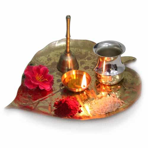 Golden Puja Thali