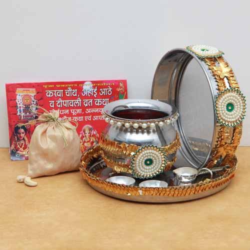 Exquisitely Pooja Thali set with Kaju Pack