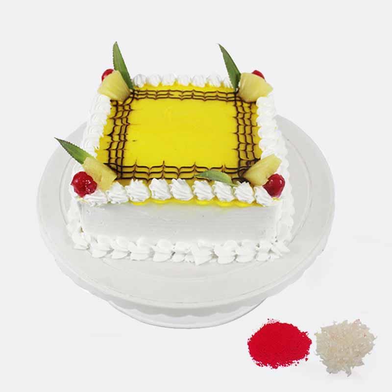 Eggless Pineapple Cake For Bhaidooj