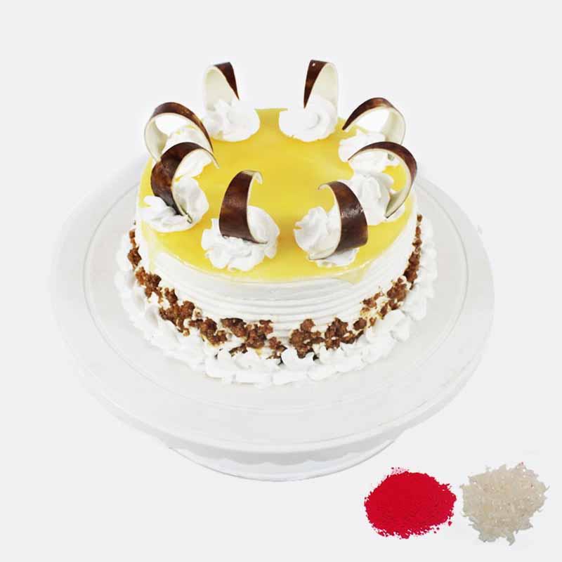 1 Kg Eggless Butterscotch Cake For Bhaidooj