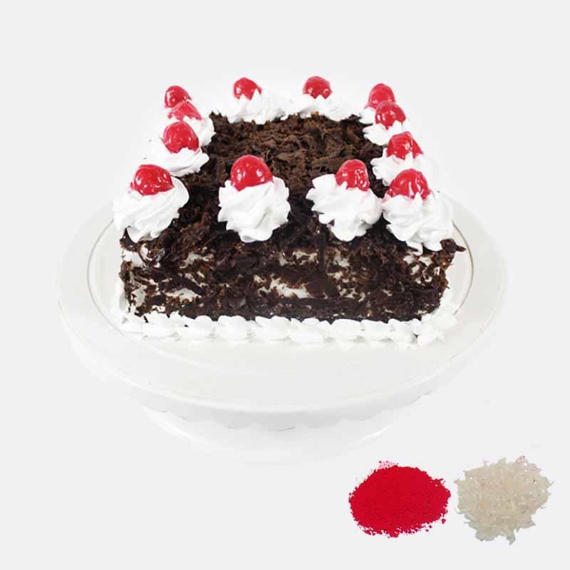 Eggless Black Forest Cake For Bhaidooj