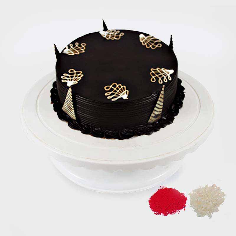 Eggless Chocolate Cake For Bhaidooj