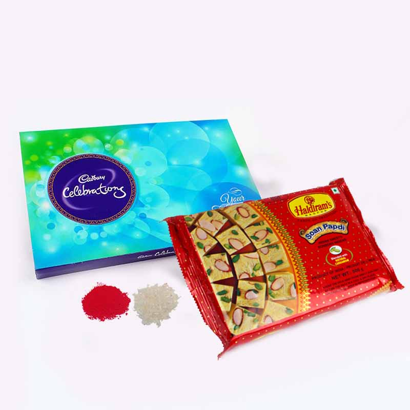 Cadbury Celbartion Chocolate Pack with Soan Papdi Bhai Dooj Gift