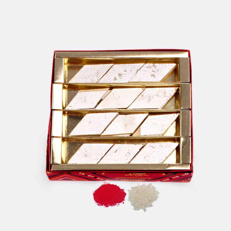 Kaju Katli Sweet in a Box for Bhaidooj Gift