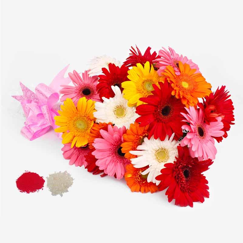 Bhaidooj Special Mix Gerberas Bouquet
