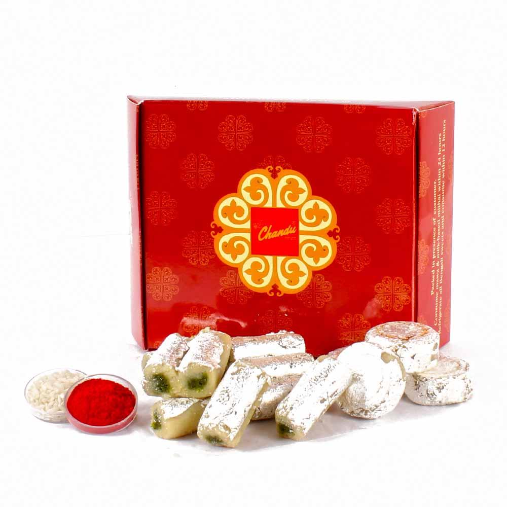 Bhai Dhooj Assorted Kaju Sweets with Tikka