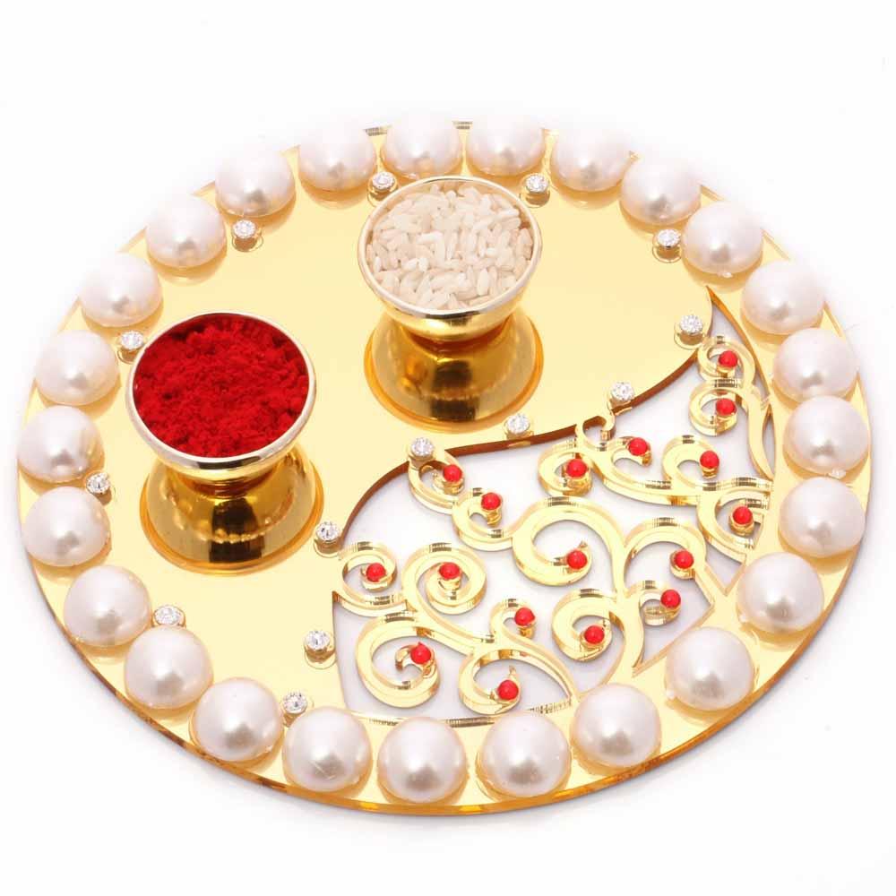 Golden Pearl Pooja Thali