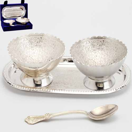 Silver Designer Bowl Set