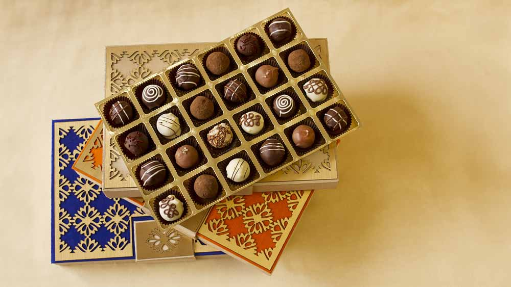 Chocolate & Cookies-Belgian Pralines Designer Treats box of 24