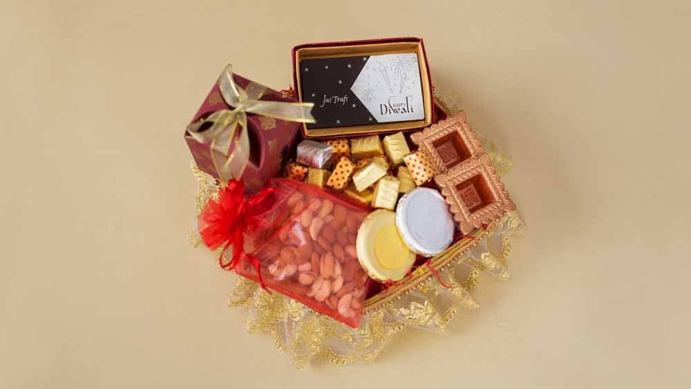 Diwali Joy hamper with chocolate and dryfruits