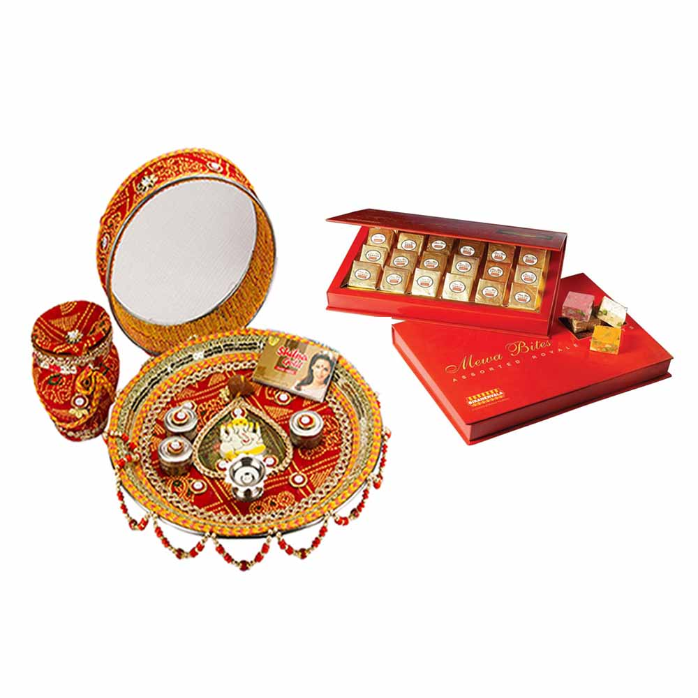 Karva Chauth Thali with Bikano Assorted mewa bites