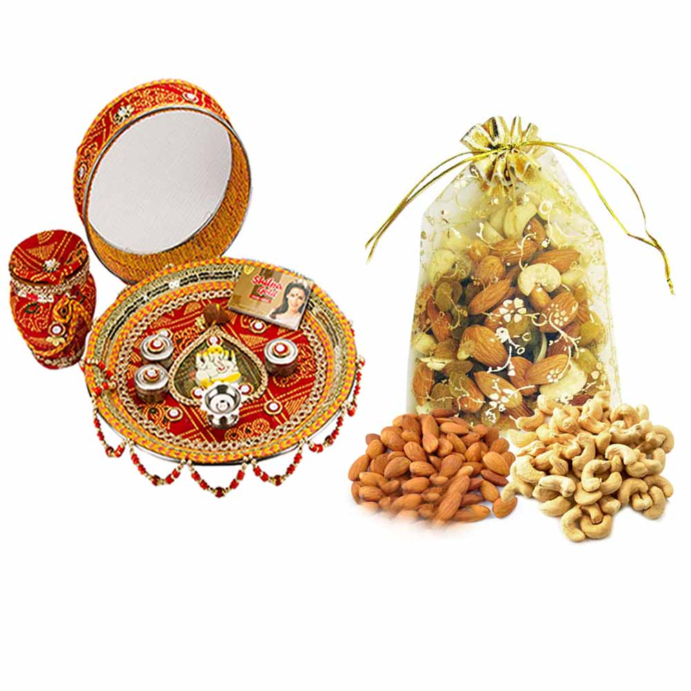 Other Diwali Gifts-Karva Chauth Thali with Nature's Bounty