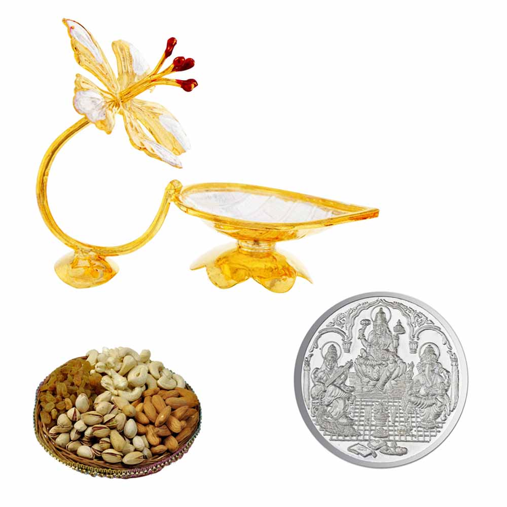 Diwali Hampers-Flower Puja Diya Hamper