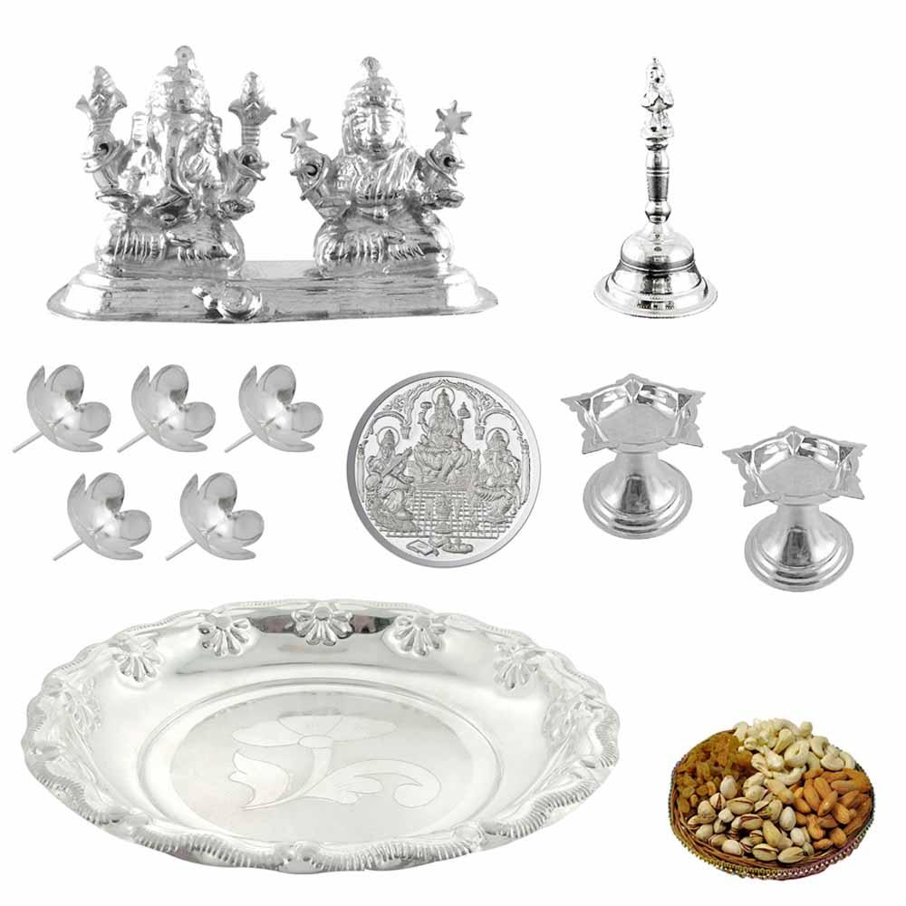 Instant Diwali Special Silver Hamper
