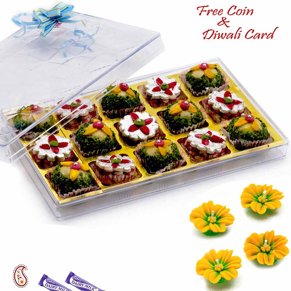 Premium Pista Ball & Kaju Chandramukhi Sweets