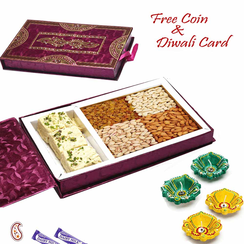 Mix Dryfruit Gift Box with Patisa