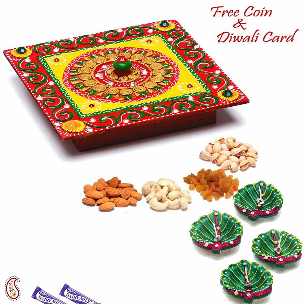 Square Designer Box with Dryfruits