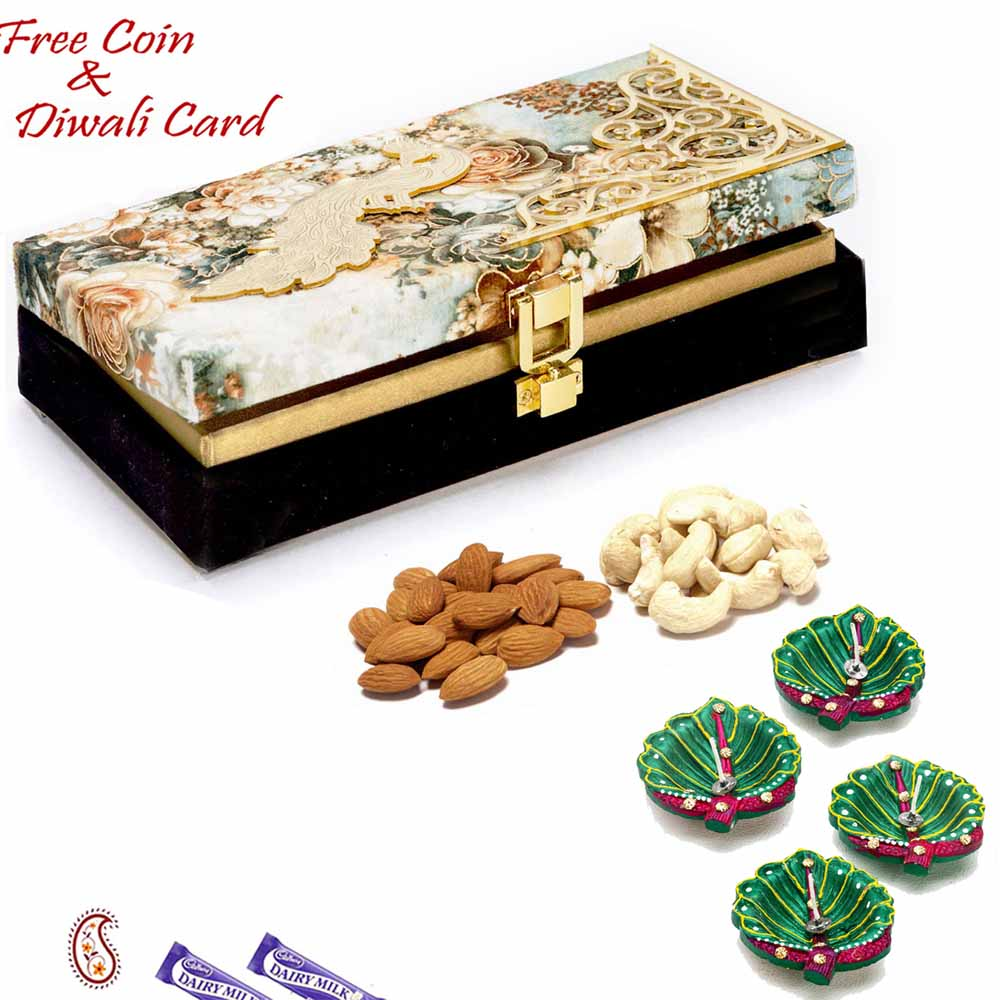Black Floral Dryfruit Box for Festive Season