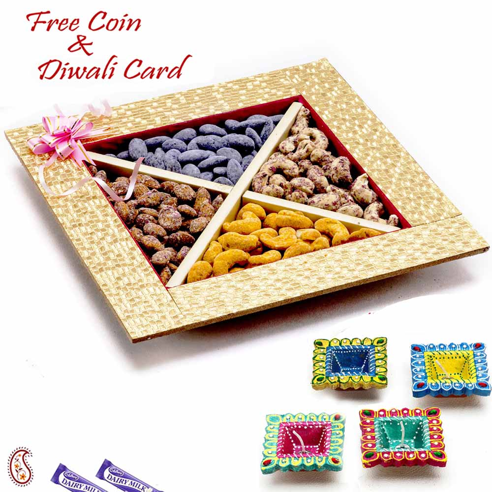 Golden Mix Dryfruit Gift Box