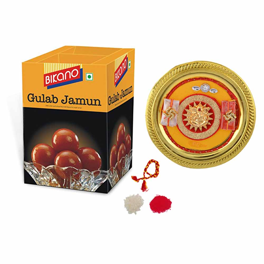 View Bhai Dooj thali with Bikano Gulab Jamun
