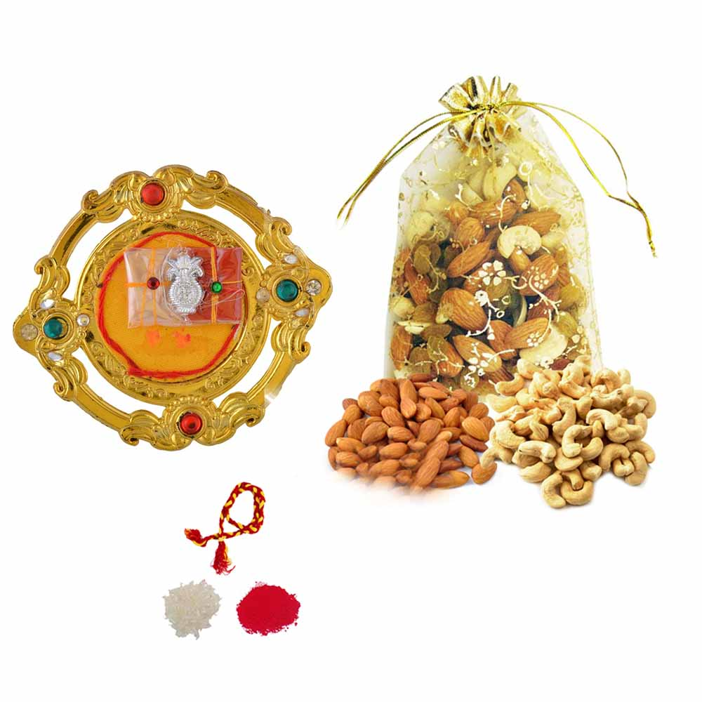 View Bhai Dooj thali with Crunchy dryfruits
