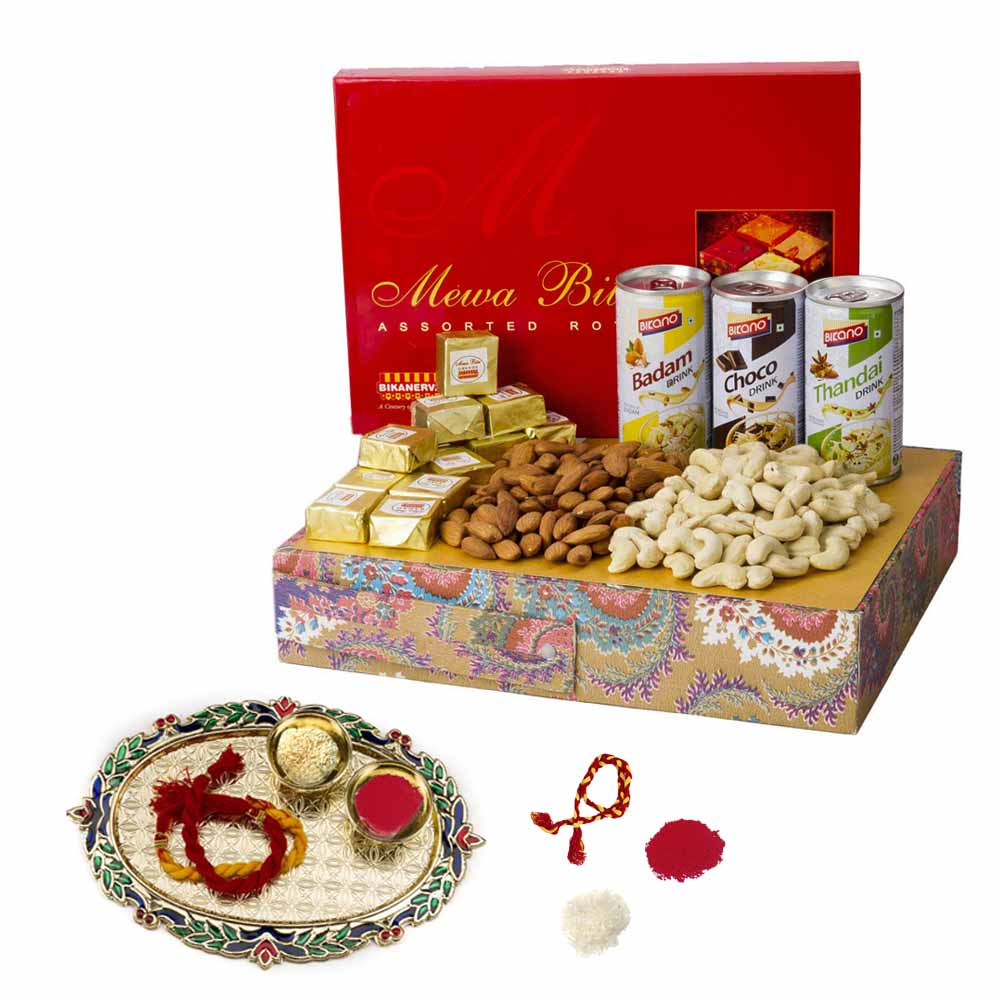 View Bikanervala Badam Choco Thandai Nutty Bhai Dooj Hamper