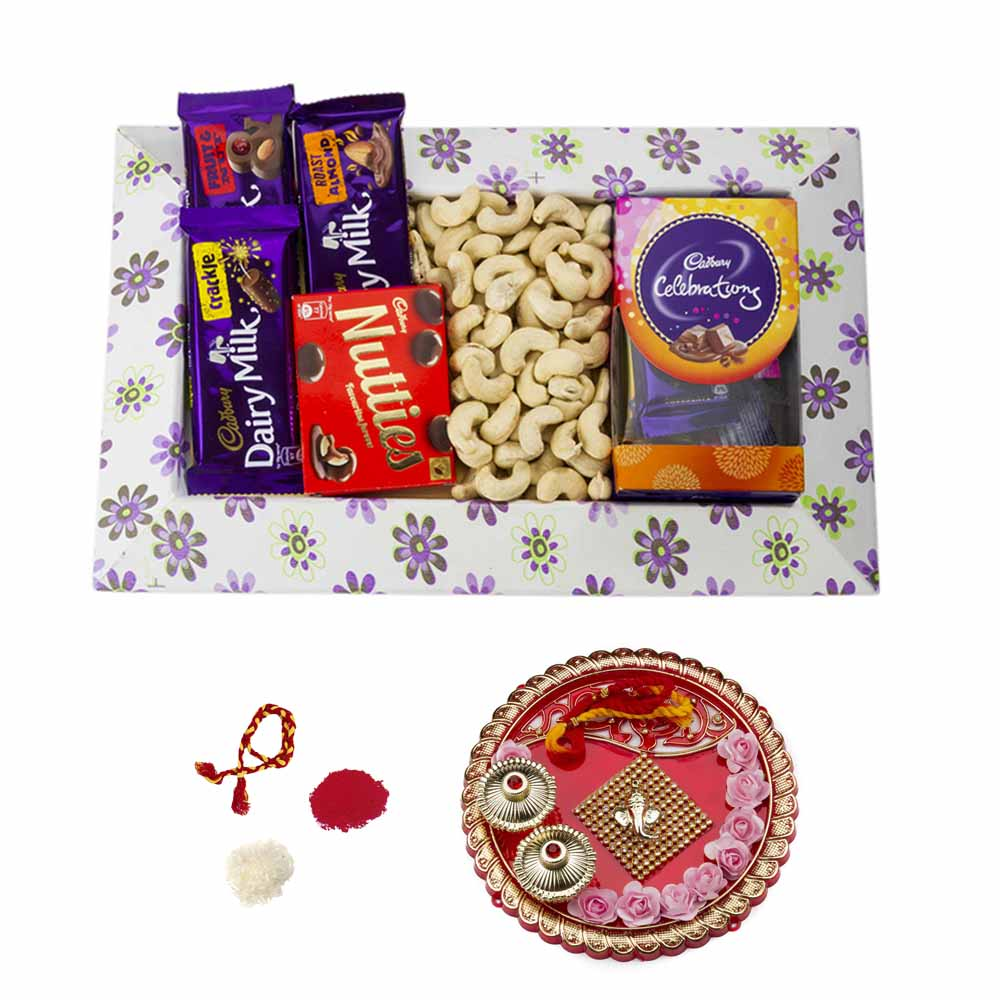 View Choco Nutty Bhai Dooj Hamper for 2 brothers