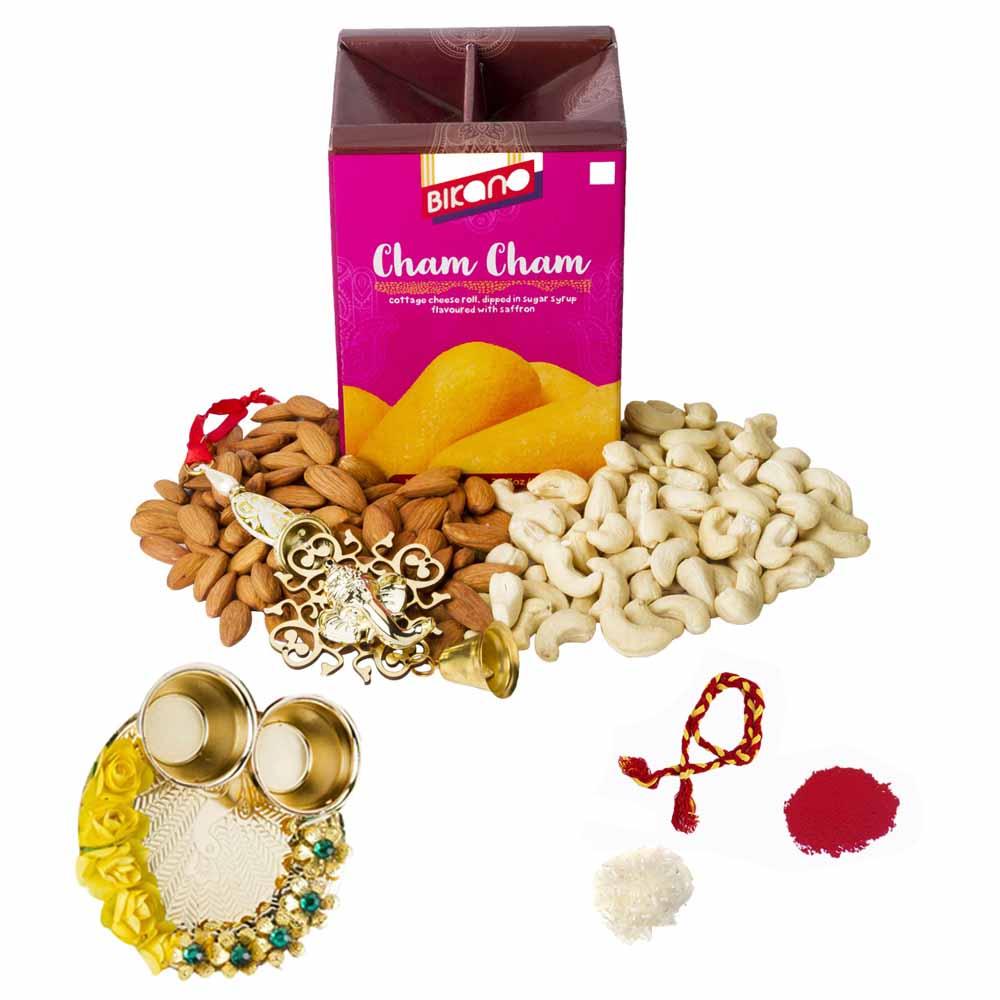 Bhai Dooj Gifts-Bikanervala Nutty Chamcham Bhai Dooj Hamper