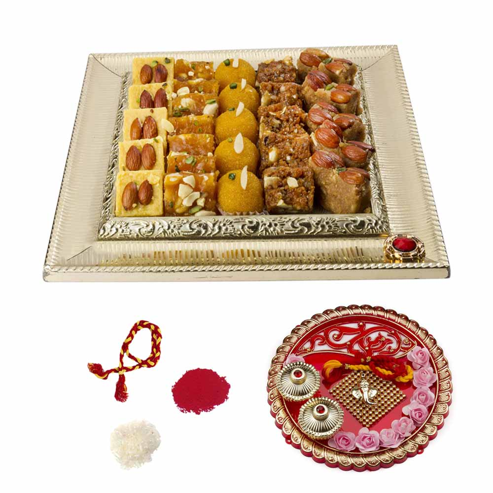 Bikanervala Bhai Dooj Thali n Lipsmacking Sweets Hamper for 2 brothers